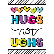 Kind Vibes Hugs Not Ughs Poster - CD-106041 | Carson Dellosa Education | Classroom Theme