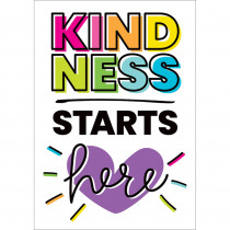 Kind Vibes Kindness Starts Here Poster - CD-106042 | Carson Dellosa Education | Classroom Theme