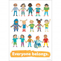 All Are Welcome Everyone Belongs Poster - CD-106053 | Carson Dellosa Education | Motivational