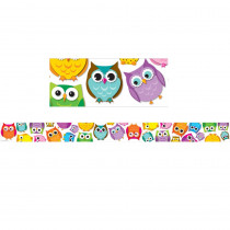 CD-108176 - Colorful Owls Border in Border/trimmer