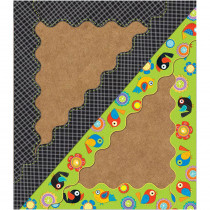 CD-108208 - Boho Birds & Blooms Scalloped Borders in Border/trimmer