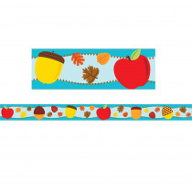CD-108229 - Apples & Acorns Straight Border in Holiday/seasonal