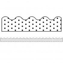 CD-108340 - Industrial Chic Wht Blk Dot Sc Brdr School Girl Style in Border/trimmer