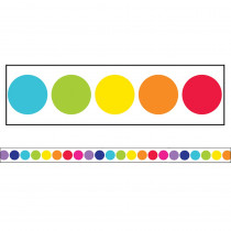CD-108342 - Stars Rainbow Big Dots Str Borders School Girl Style in Border/trimmer