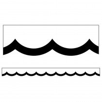 CD-108357 - Black & White Wavy Scalloped Border Simply Stylish in Border/trimmer