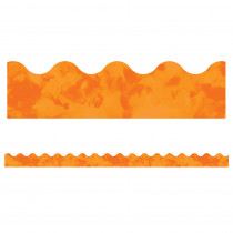 CD-108369 - Watercolor Orange Scalloped Borders Celebrate Learning in Border/trimmer