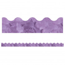 CD-108373 - Watercolor Purple Scalloped Borders Celebrate Learning in Border/trimmer