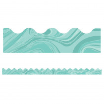 CD-108376 - Teal Marble Scalloped Borders in Border/trimmer