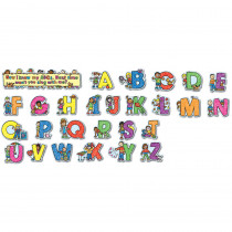 CD-110069 - Alphabet Kids Kid-Drawn Bulletin Board Set Pk-1 in Letters
