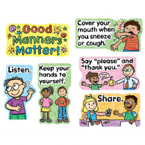 CD-110109 - Good Manners Matter Mini Bulletin Board Set in Social Studies