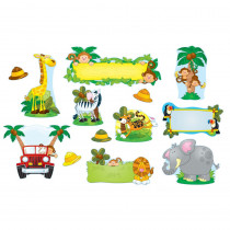 CD-110152 - Jungle Safari Bulletin Board Set in Classroom Theme