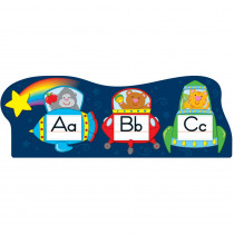CD-110156 - Alphabet Spaceships Bulletin Board Set in Language Arts
