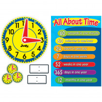 CD-110185 - Judy Clock Bulletin Board Set in Math