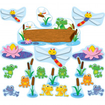 CD-110207 - Funky Frogs Bulletin Board Set in Classroom Theme