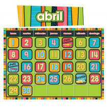 CD-110214 - Stylin Stripes Spanish Calendar in Bulletin Board Sets