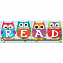CD-110225 - Whooo Loves Reading Bulletin Board Set in Classroom Theme