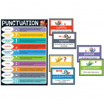 CD-110298 - Boho Birds Punctuation Bulletin Board Set in Language Arts