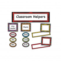 CD-110302 - Colorful Chalkboard Classroom Management Bulletin Board Set in Miscellaneous