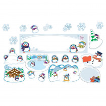 CD-110308 - Winter Mini Bulletin Board Set in Holiday/seasonal