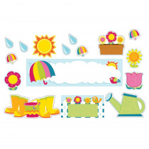 CD-110309 - Spring Mini Bulletin Board Set in Holiday/seasonal