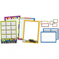 CD-110312 - Super Power Classroom Organizers Bulletin Board Set in Classroom Theme