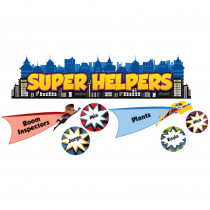 CD-110317 - Super Power Super Helpers Bulletin Board Set in Classroom Theme