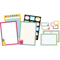 CD-110328 - School Pop Classroom Organizers Bulletin Board Set in Classroom Theme