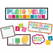 CD-110331 - School Pop Place Value Bulletin Board Set in Math