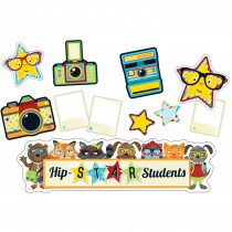 CD-110338 - Hipster Hip-Star Students Bulletin Board Set in Motivational