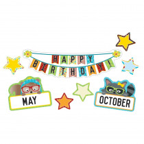 CD-110341 - Hipster Birthday Bulletin Board Set in Classroom Theme