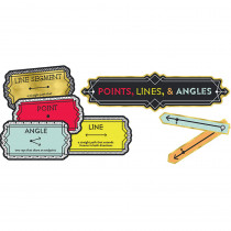 CD-110347 - Points Lines And Angles Bulletin Board Set Gr 3-5 Mini in Math