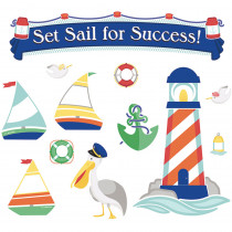 CD-110357 - Set Sail For Success Bulletin Board Set Gr Pk-5 Decorative in Motivational