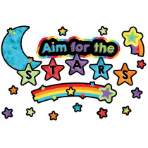 CD-110374 - Aim For The Stars Mini Bulletin Board Set Celebrate Learning in Classroom Theme