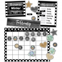 CD-110409 - Simply Stylish Calendar Bb St in Classroom Theme