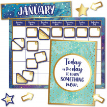 CD-110437 - Galaxy Calendar Bb St in Classroom Theme