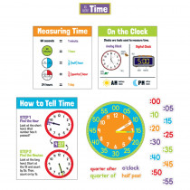 All About Time Bulletin Board Set, Grade 1-5 - CD-110473 | Carson Dellosa Education | Math