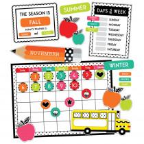 Black, White & Stylish Brights Calendar Bulletin Board Set - CD-110499 | Carson Dellosa Education | Calendars