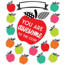 Black, White & Stylish Brights You Are Awesome to the Core Bulletin Board Set - CD-110500 | Carson Dellosa Education | Classroom Theme