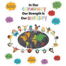 All Are Welcome Our Strength Is Our Diversity Bulletin Board Set - CD-110534 | Carson Dellosa Education | Motivational