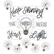 Simply Stylish Keep Shining Bulletin Board Set - CD-110535 | Carson Dellosa Education | Motivational