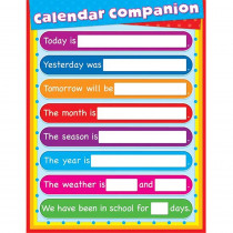 CD-114100 - Calendar Companion Laminated Chartlet in Miscellaneous