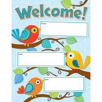 CD-114190 - Boho Birds Welcome Chart in Classroom Theme