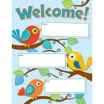 CD-114190 - Boho Birds Welcome Chart in Classroom Theme