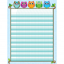 CD-114197 - Colorful Owls Incentive Chart in Incentive Charts