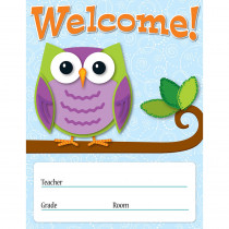 CD-114198 - Colorful Owls Welcome Chart in Classroom Theme