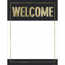 CD-114247 - Gold Glitter Welcome Chart Sparkle And Shine in Classroom Theme