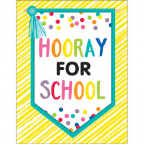 CD-114269 - Just Teach Hooray For School Chart in Classroom Theme