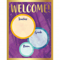 CD-114277 - Galaxy Welcome Chart in Classroom Theme