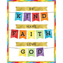 CD-114283 - Be Kind Have Faith Love God Chart in Motivational