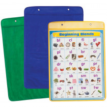 CD-117000 - Chart Pockets Yellow Blue Green 18X25 in Pocket Charts